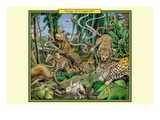 Leap of Leopards Wall Decal by Richard Kelly