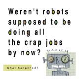 Robots Doing Crap Jobs Wallstickers