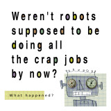 Robots Doing Crap Jobs Wall Decal