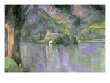 Le Lac Annecy Wallsticker af Paul Cézanne