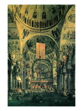 Interior of St. Marks Church, Venice Wall Decal by  Canaletto
