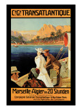 Marseille-Algiers Cruise Line Wall Decal