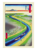 View of Mount Fuji Wall Decal by Ando Hiroshige