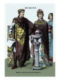 Emperor Justinian and Queen Theodora 482-565 Wall Decal by Richard Brown
