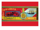 Pioneer Brand Fresh Lobster Wall Decal