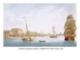 Marine School, Dublin, Looking Up the Liffey, 1796 Wall Decal by James Malton