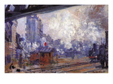 The Gare Saint-Lazare Wall Decal by Claude Monet