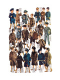 Little Boys Modeling Garments Wall Decal