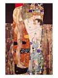 Kvinden i tre stadier Wallstickers af Gustav Klimt