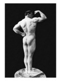 Statuesque Back and Arm Curl Wall Decal