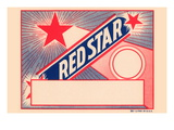 Red Star Broom Label Wall Decal