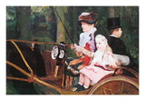 In The Wagon Wall Decal by Mary Cassatt