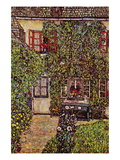 The House of Guard Wall Decal by Gustav Klimt