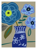 Blue Bouquet I Wall Decal