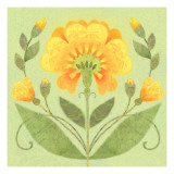 Floral Square II Wall Decal