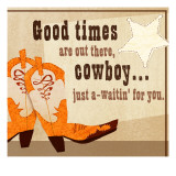 Cowboy Boots and Star Wall Decal