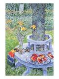 Mrs. Hassam's Garden Wallstickers af Childe Hassam