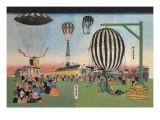 Launching of Hot Air Balloons - Duvar Çıkartması