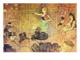 Mauri Dance Wall Decal by Henri de Toulouse-Lautrec