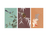 Eastern Animals Triptych Wall Decal