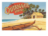 Outrigger Inn, Hawaii Wall Decal by Kerne Erickson