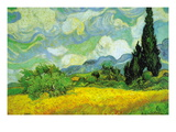 Cypresses Wall Decal by Vincent van Gogh
