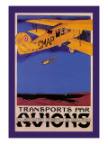 Transports Par Avions Wall Decal by  Terrando