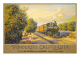 "Erickson ""Wonderful Califonia"" Autocollant mural par Kerne Erickson"