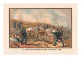 Siege and Barbette Guns, Fort Haskell, 1865 Wall Decal by Arthur Wagner