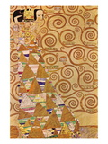 Anticipation Muursticker van Gustav Klimt