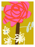 Retro Rose Wall Decal