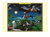 A Mustering of Incan Storks Wall Decal by Richard Kelly