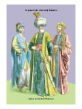 Turkish Noblemen and Sultan, 11th Century Wall Decal by Richard Brown