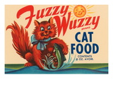 Fuzzy Wuzzy Brand Cat Food Wall Decal