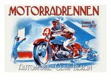 Motorradrennen - Auto Club Berlin Wall Decal by Jason Pierce