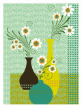 Damask Daisies Wall Decal