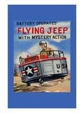 Battery Operated Flying Jeep with Mystery Action Wall Decal