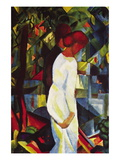 Couple In The Forest Wallstickers af Auguste Macke