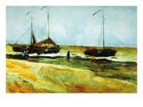 Strand in Scheveningen bei ruhigem Wetter Wandtattoo von Vincent van Gogh