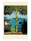 Sugar Plum Tree and The Black Cat Wall Decal by Eugene Field