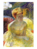 Lydia, The Arms Rested, In The Theater Loge Wall Decal by Mary Cassatt