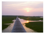Boardwalk Sunset Wall Decal