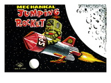 Mechanical Jumping Rocket Wallsticker