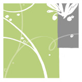 Abstrakt i grønt Wallstickers