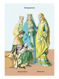 German Cleric and Princesses, 13th Century Wall Decal by Richard Brown