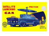 Satellite Launching Car A2 Wall Decal