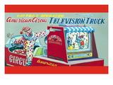 American Circus Television Truck Vinilos decorativos