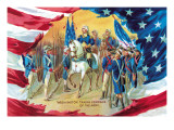 Washington Taking Command of the Army Wall Decal