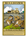 Bulldozer Wall Decal by Wilbur Pierce