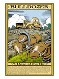 Bulldozer Wall Decal by Wilbur Pierce